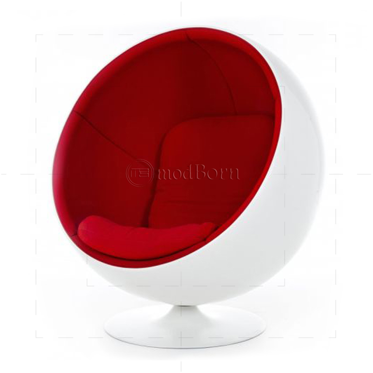 eero aarnio style ball chair white. Black Bedroom Furniture Sets. Home Design Ideas