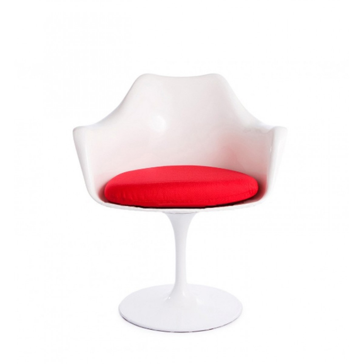 Eero saarinen style tulip arm chair white replica - Replica tulip chair ...