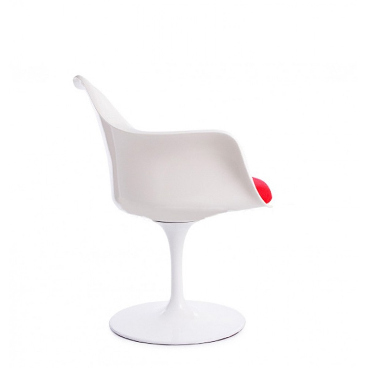 Eero saarinen style tulip arm chair white replica for Eero saarinen tulip armchair