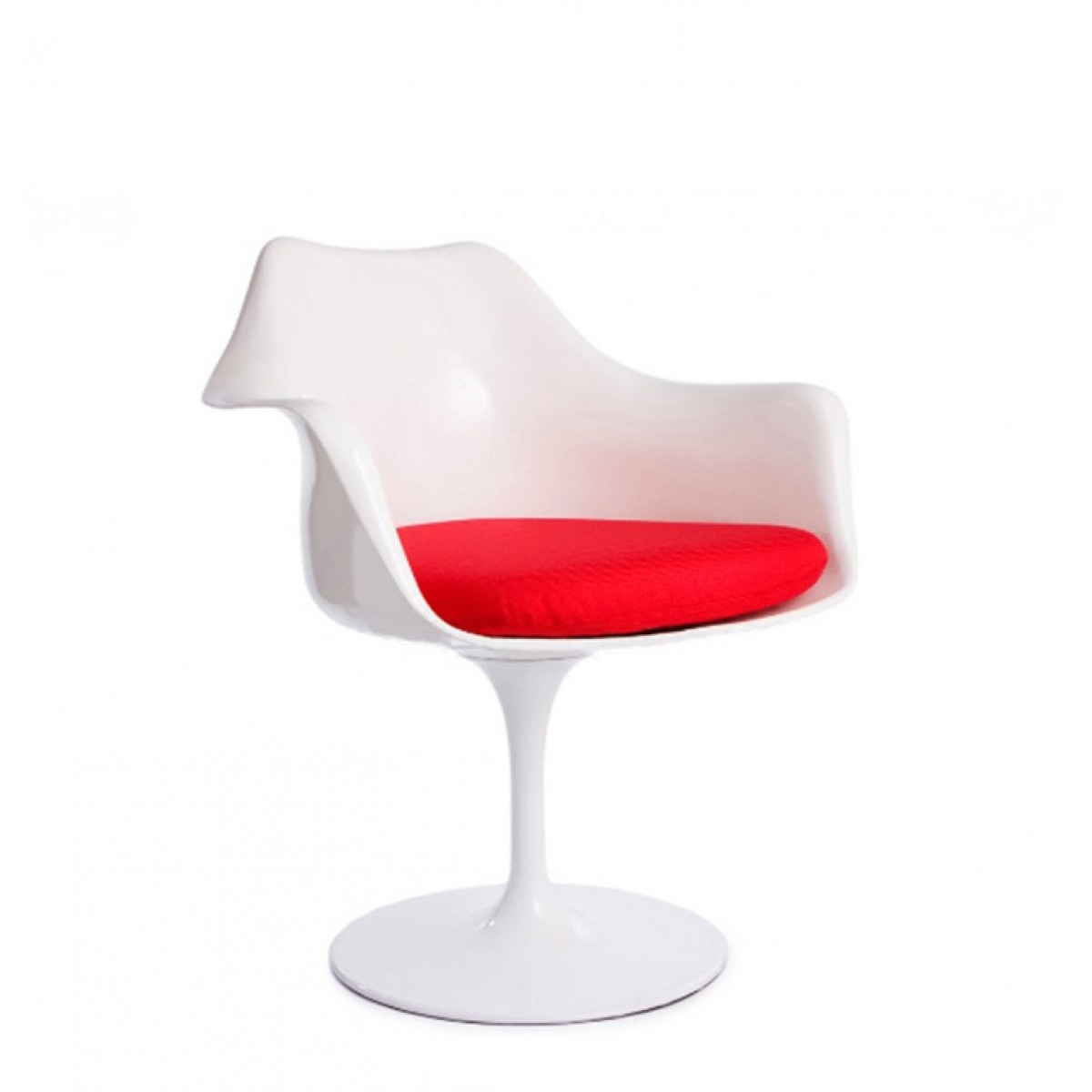 Eero Saarinen Style Tulip Arm Chair White