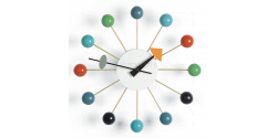George Nelson Style Ball Wall Clock Mutli Color - Replica
