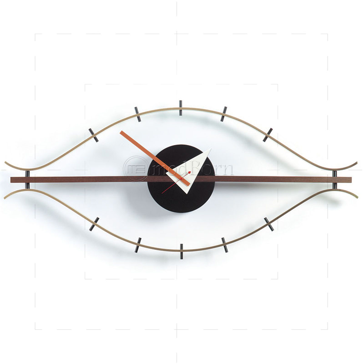george nelson style eye wall clock. Black Bedroom Furniture Sets. Home Design Ideas