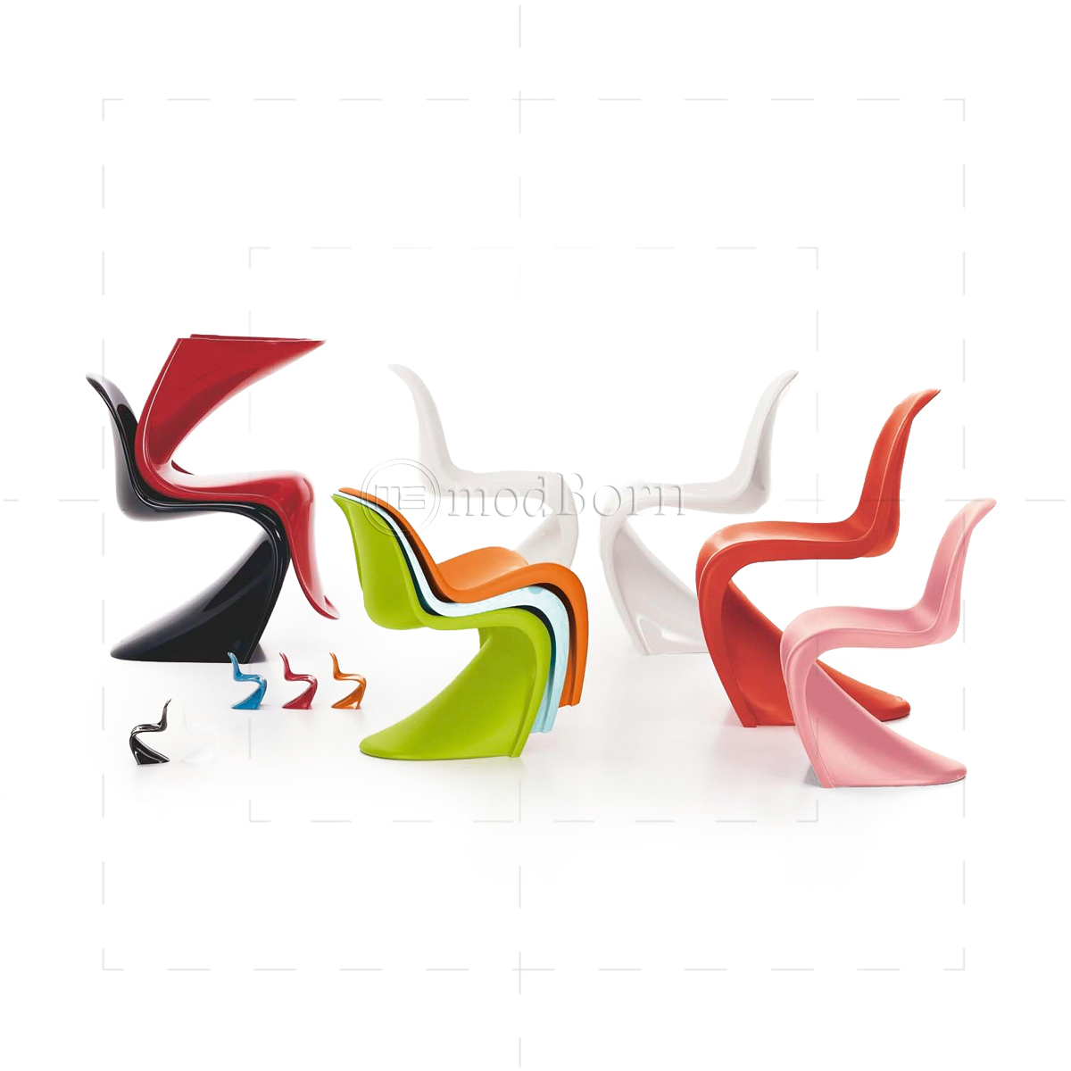 Verner Panton Chair Orange  Replica