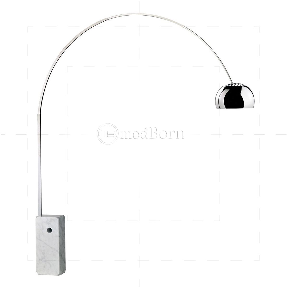 Achille Castiglioni Style Arco Lamp White Replica