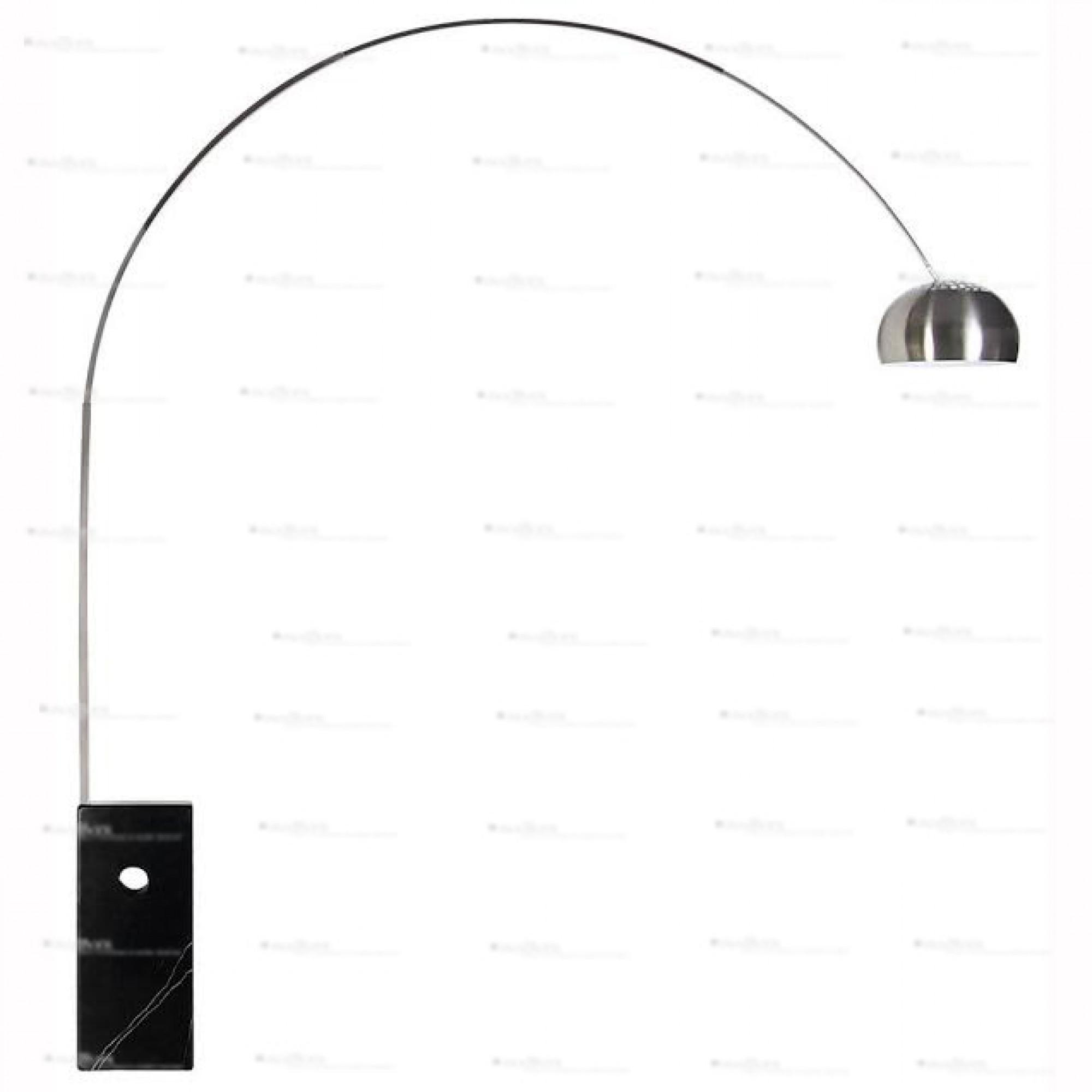 achille castiglioni style arco lamp black. Black Bedroom Furniture Sets. Home Design Ideas