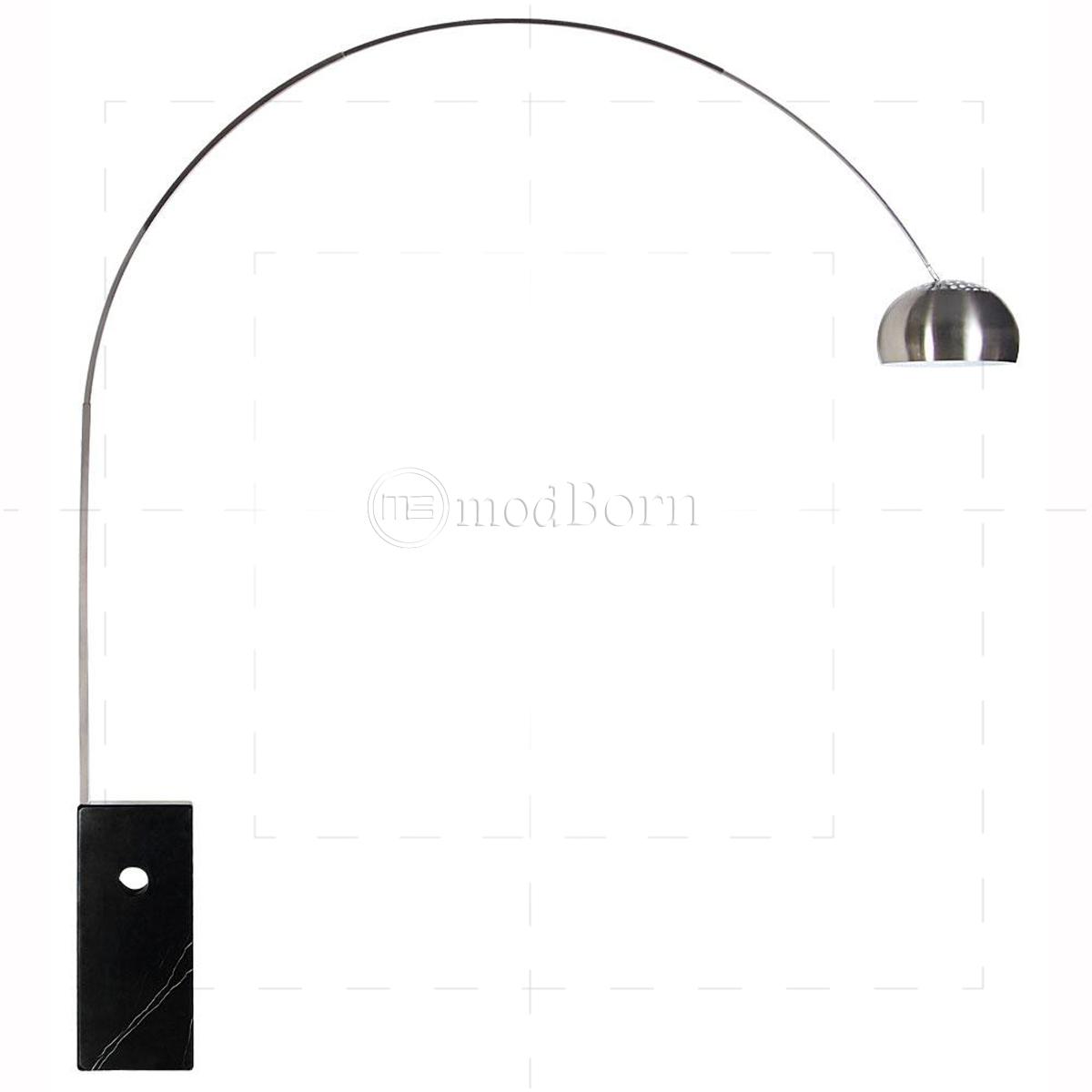 Achille Castiglioni Style Arco Lamp Black Replica