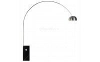 Achille Castiglioni Style Arco Lamp Black - Replica
