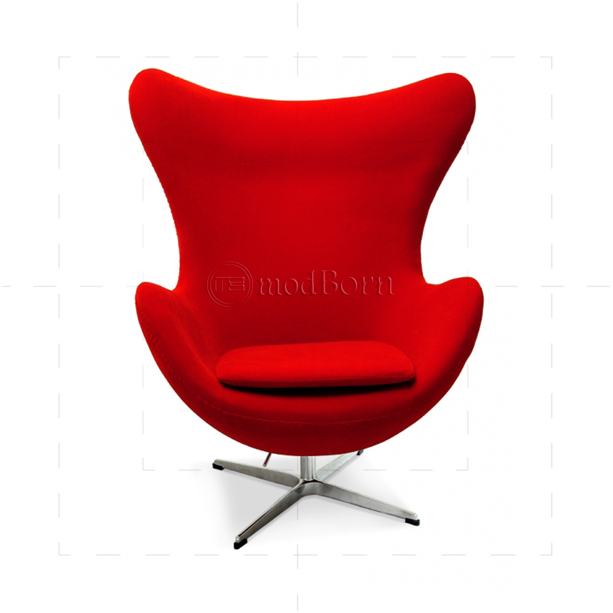 Arne Jacobsen Style Egg Cashmere Wool Chair RED : redfabricEggChairArneJacobsen front 1200x1200 from www.modborn.com size 1200 x 1200 jpeg 416kB