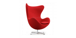 Egg Cashmere Wool Chair RED