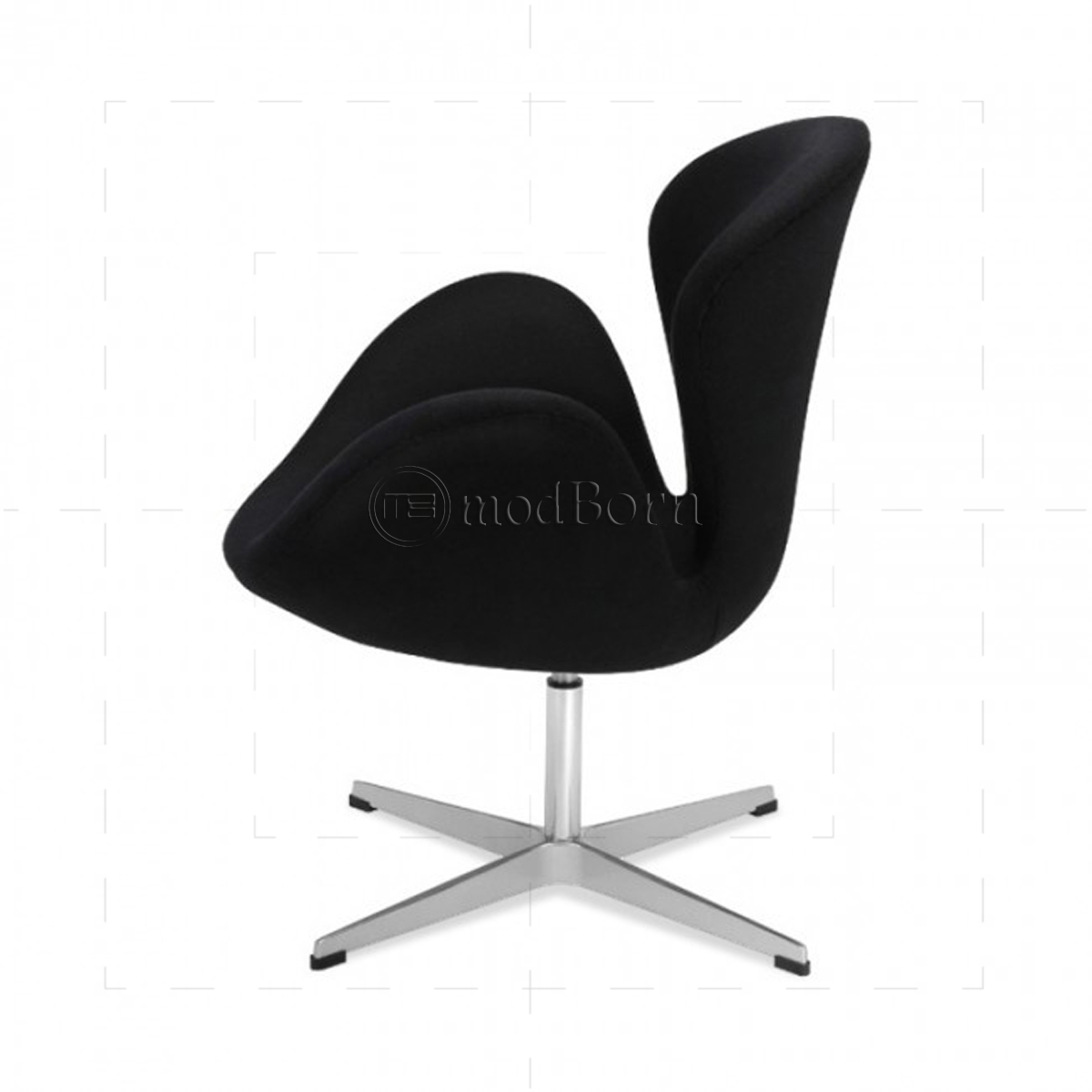 arne jacobsen style swan chair black. Black Bedroom Furniture Sets. Home Design Ideas