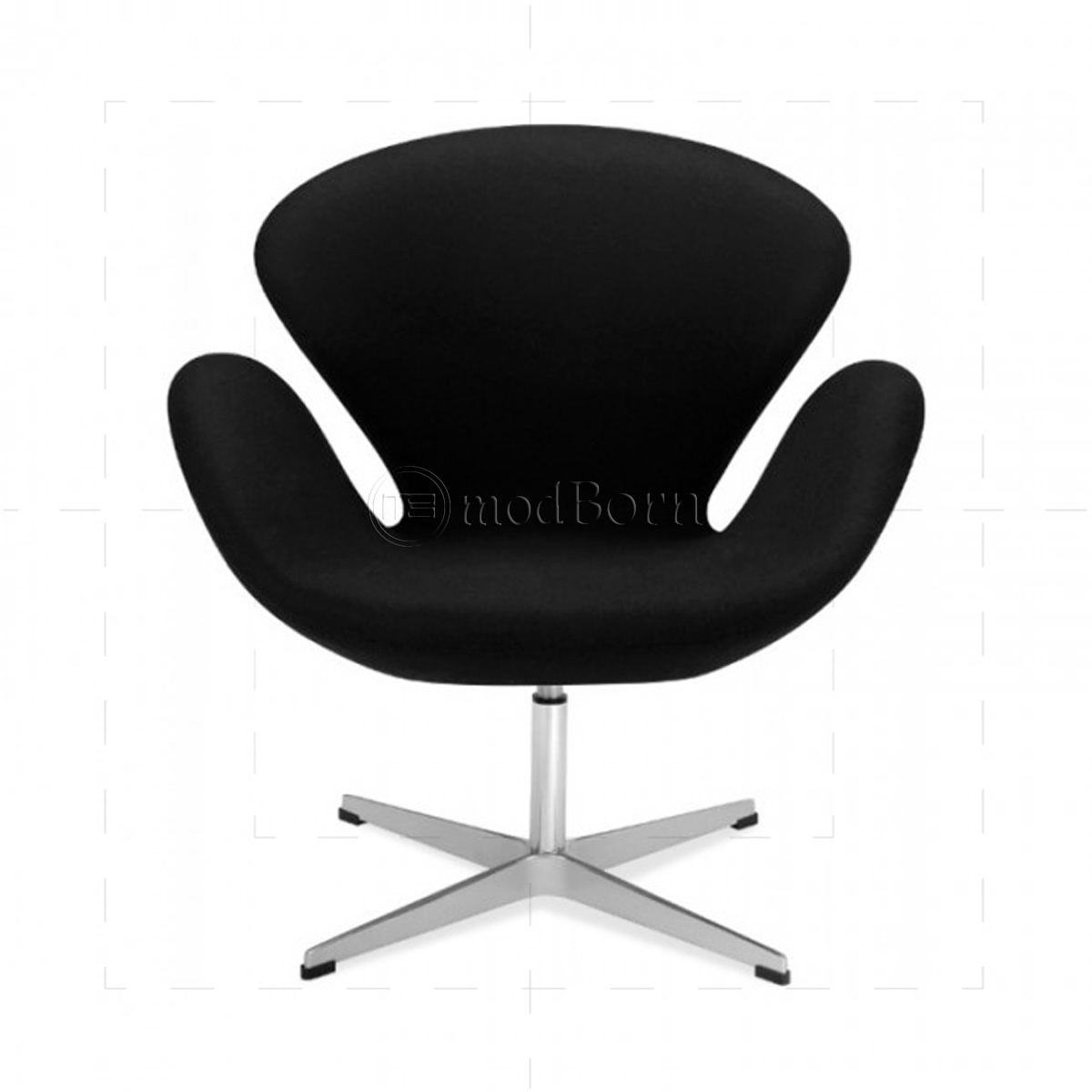 Arne jacobsen style swan chair black cashmere wool replica for Arne jacobsen stehlampe replica