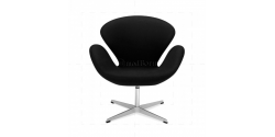 Arne Jacobsen Style Swan Chair Black Cashmere Wool - Replica