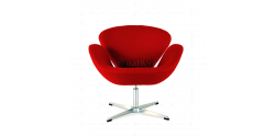 Arne Jacobsen Style Swan Chair Red Cashmere Wool - Replica