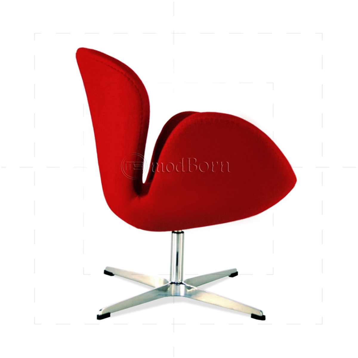 Arne jacobsen style swan chair red cashmere wool replica for Arne jacobsen stuhl replica