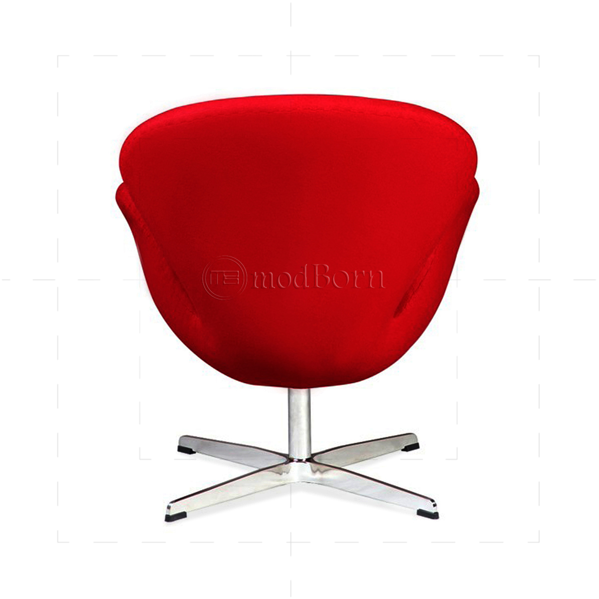 Arne jacobsen style swan chair red cashmere wool replica for Arne jacobsen stehlampe replica