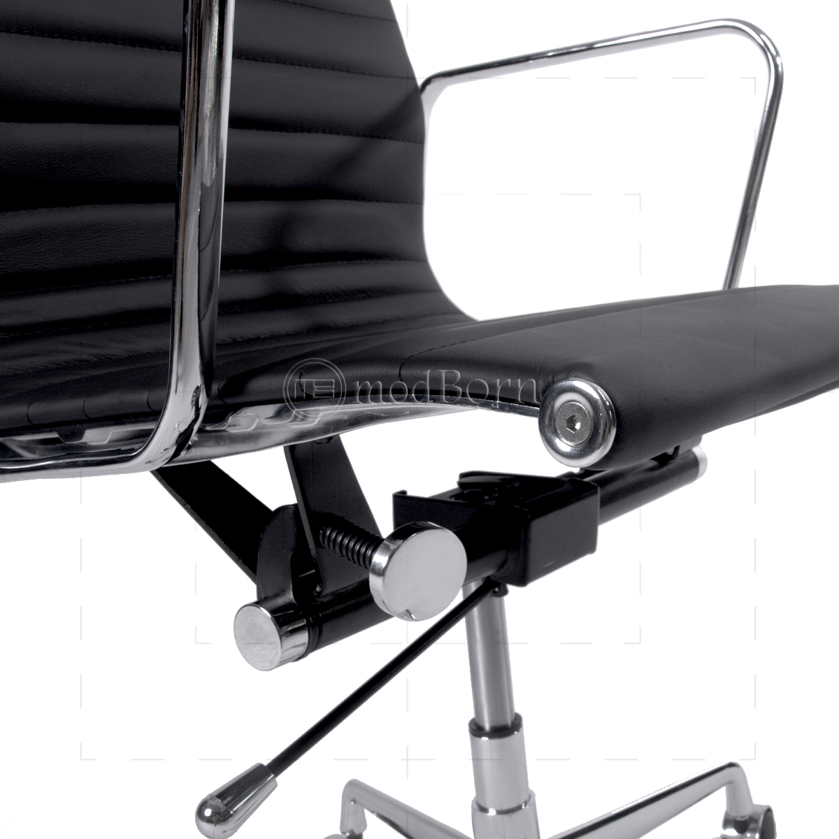 office chair genuine leather white. ea119 eames style office chair high back ribbed black leather replica genuine white