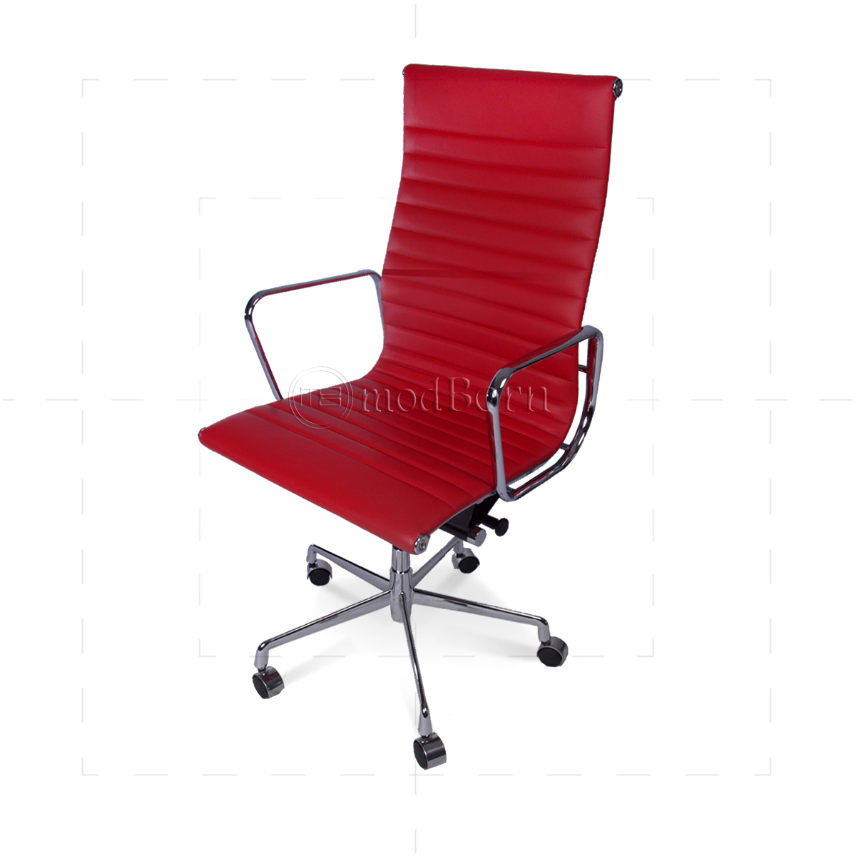 EA119 Eames Style Office Chair High Back Ribbed Red  : eames office highback red side2 closeup 1200x1200 from www.modborn.com size 1200 x 1200 jpeg 341kB