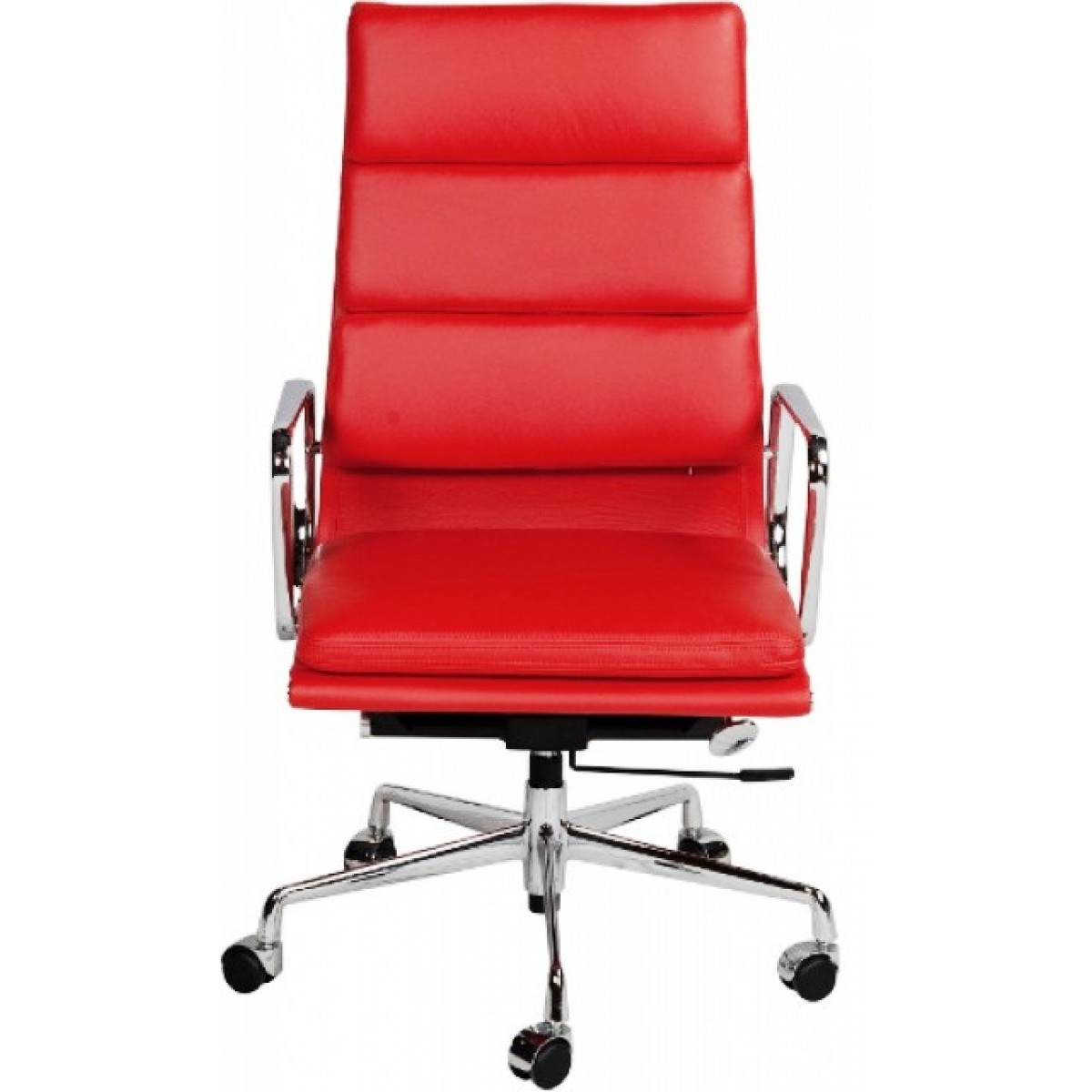 EA219 Eames Style Office Chair High Back Soft Pad Red Leather   Replica