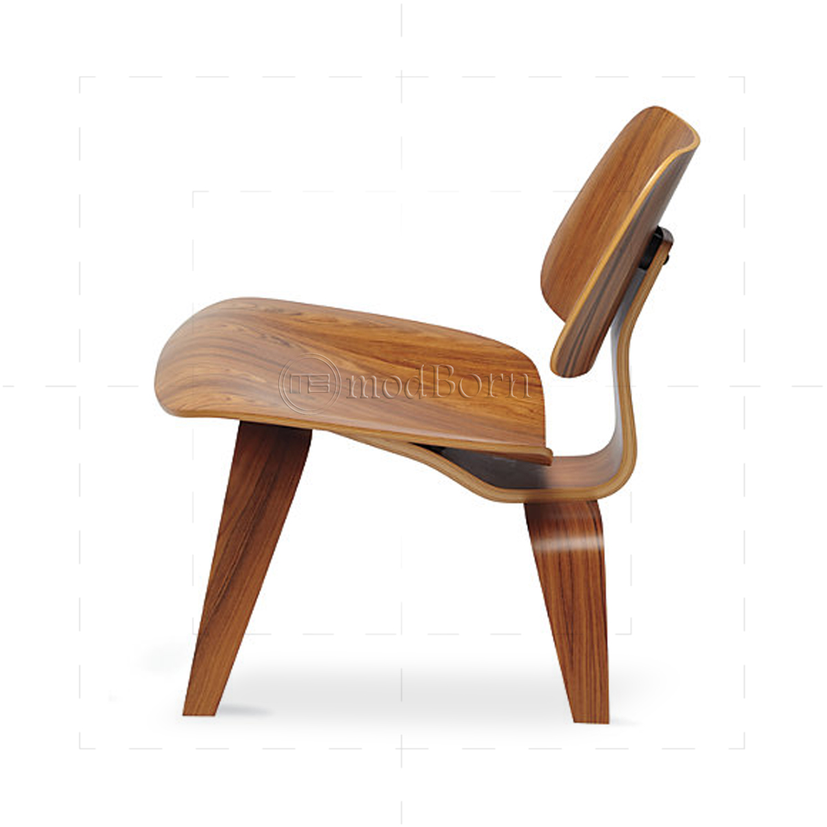 Eames style dining lcw rosewood chair replica for Eames side chair replica