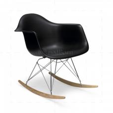 Eames Style Dining Rocking RAR Arm Chair BLACK - Replica