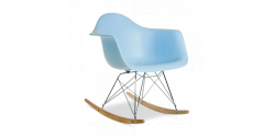 Eames Style Dining Rocking RAR Arm Chair BLUE - Replica