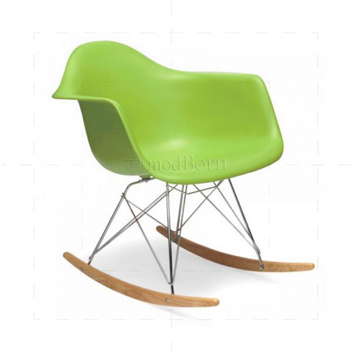 eames style dining rocking rar arm chair green replica. Black Bedroom Furniture Sets. Home Design Ideas