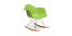 Eames Style Dining Rocking RAR Arm Chair Green - Replica