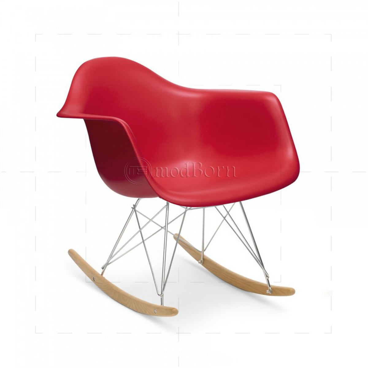 eames style dining rocking rar arm chair red replica. Black Bedroom Furniture Sets. Home Design Ideas