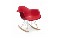 Eames Style Dining Rocking RAR Arm Chair Red - Replica