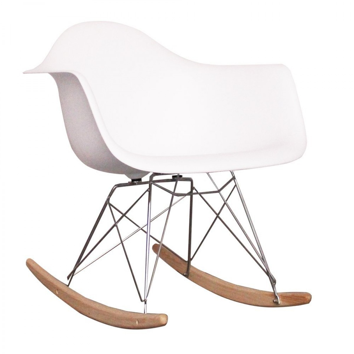 eames style dining rocking rar arm chair white. Black Bedroom Furniture Sets. Home Design Ideas