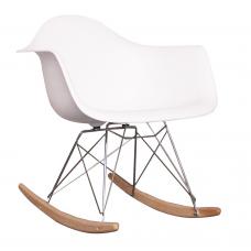 Eames Style Dining Rocking RAR Arm Chair White - Replica