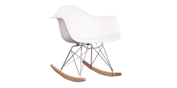 Eames Style Dining Rocking RAR Arm Chair White - Replica