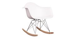 Rocking RAR Arm Chair White