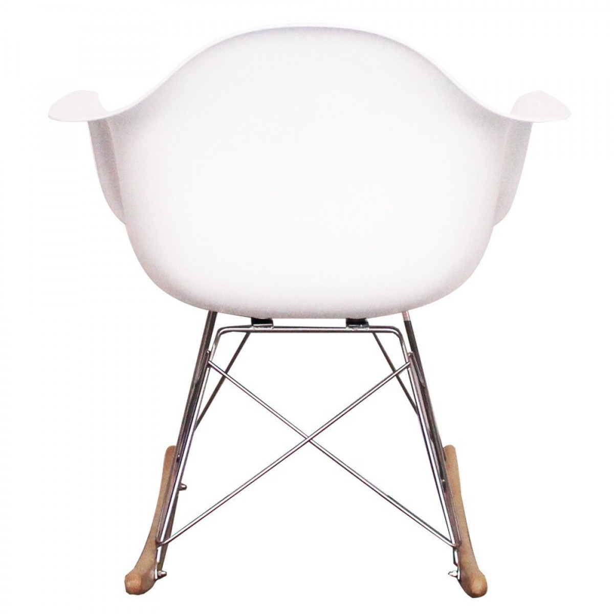 Eames style dining rocking rar arm chair white replica - Chaise eames belgique ...