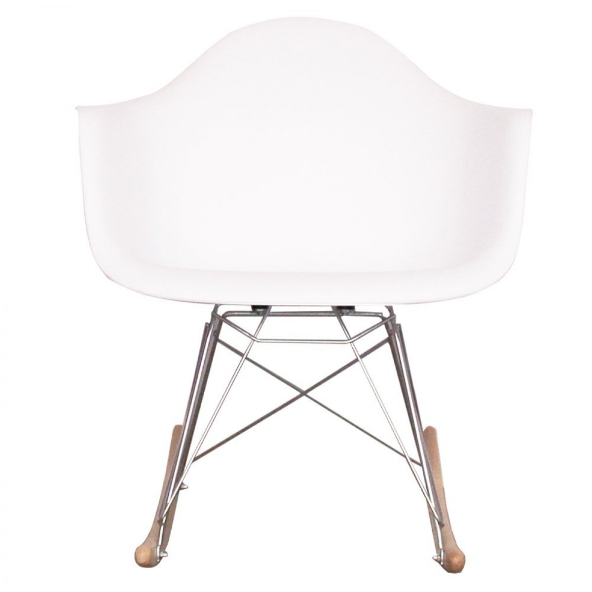 eames style dining rocking rar arm chair white