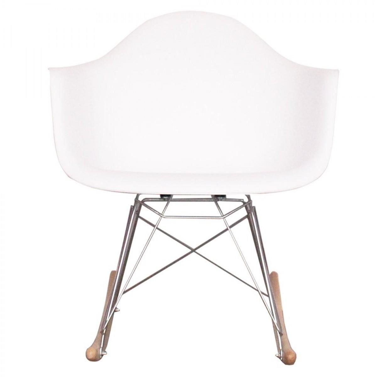 Eames Style Dining Rocking Rar Arm Chair White Replica
