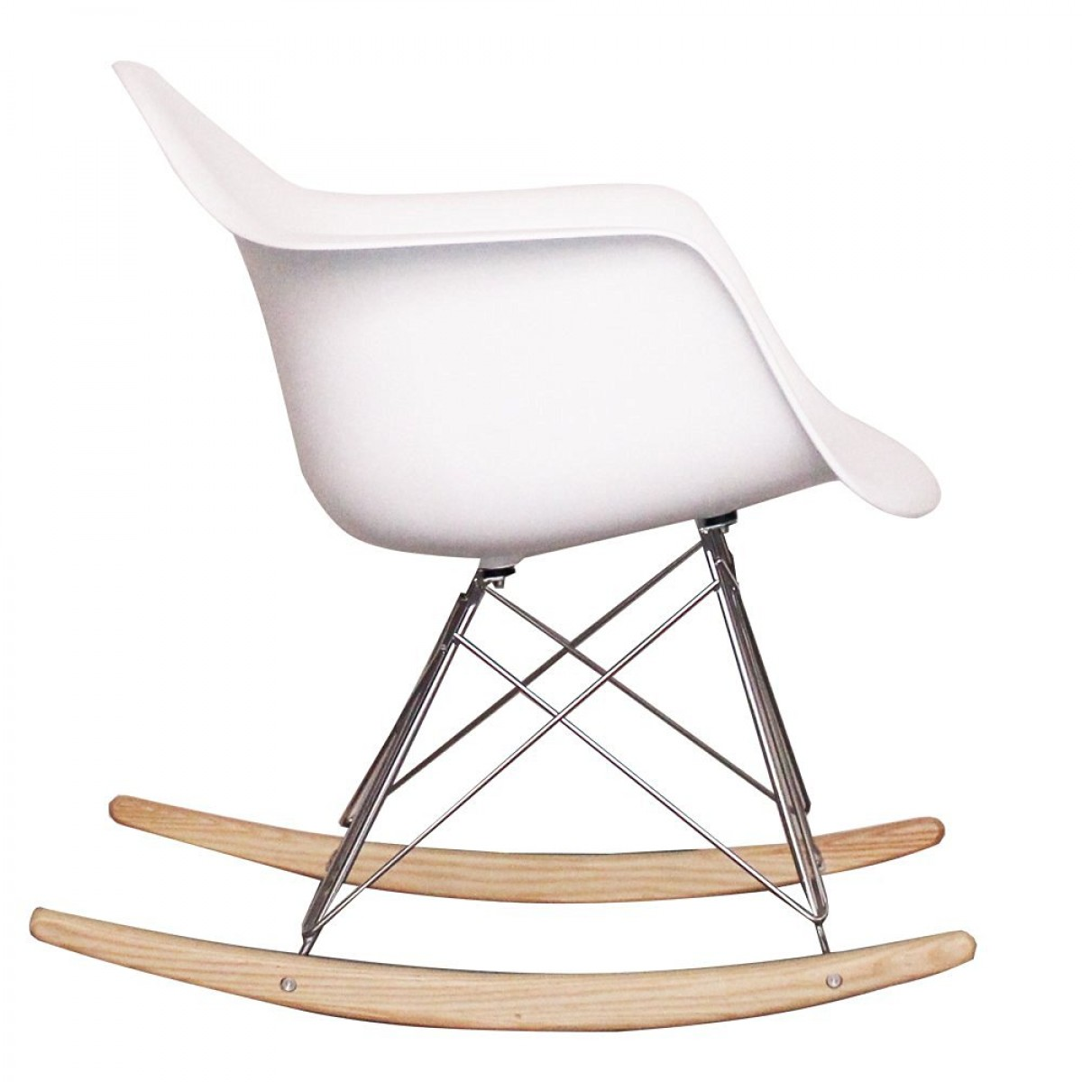 Eames style dining rocking rar arm chair white - Chaise eames belgique ...