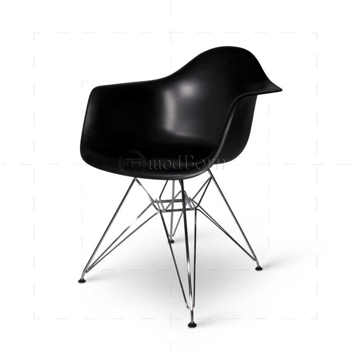 Eames style dining dar arm chair black replica for Eames replica deutschland