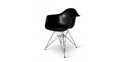 Eames Style Dining DAR Arm Chair Black - Replica