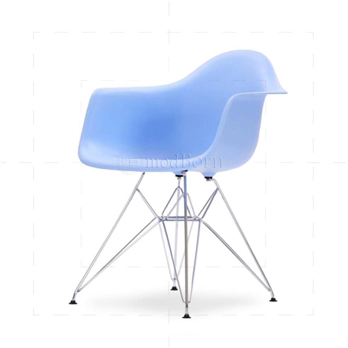 eames style dining dar arm chair blue replica. Black Bedroom Furniture Sets. Home Design Ideas