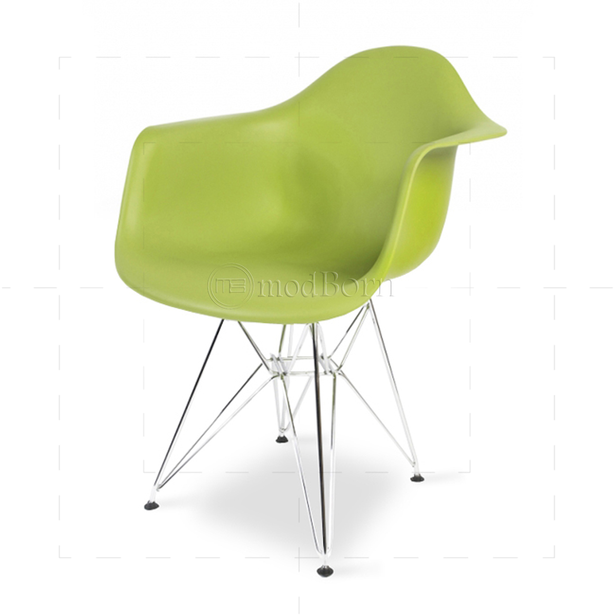 eames style dining dar arm chair green replica. Black Bedroom Furniture Sets. Home Design Ideas