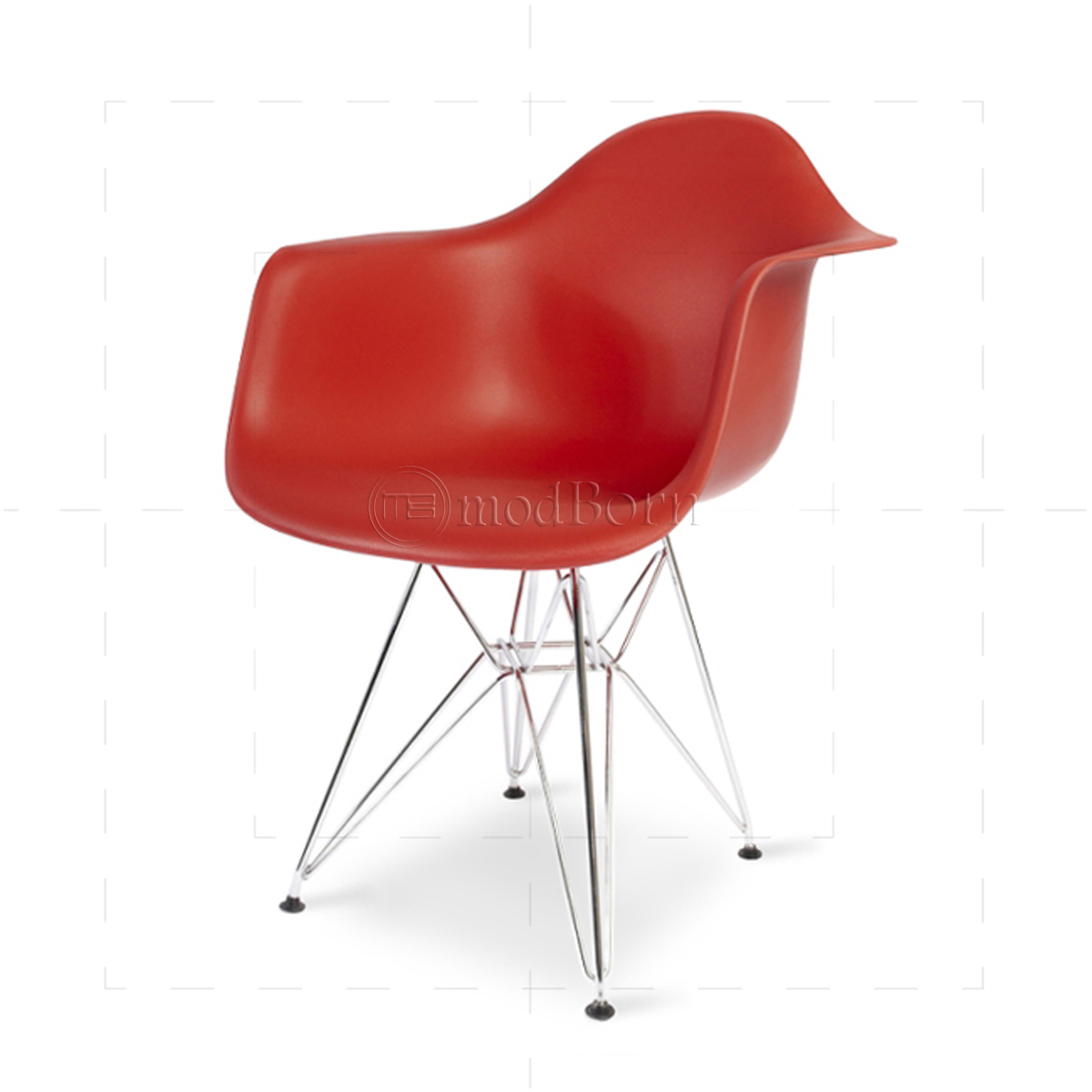 eames style dining dar arm chair red replica. Black Bedroom Furniture Sets. Home Design Ideas