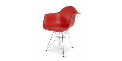 Eames Style Dining DAR Arm Chair Red - Replica