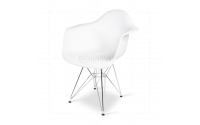 Eames Style Dining DAR Arm Chair White