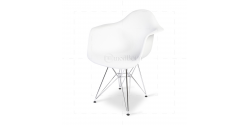 Eames Style Dining DAR Arm Chair White - Replica