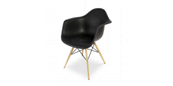 Eames Style Dining DAW Arm Chair BLACK - Replica