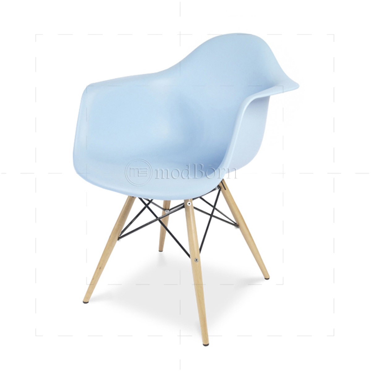 Eames style dining daw arm chair blue for Eames sessel replica