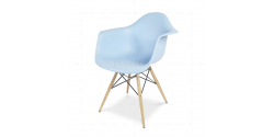 Eames Style Dining DAW Arm Chair BLUE - Replica