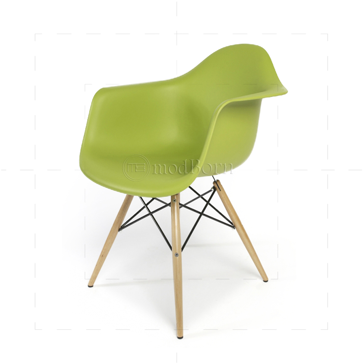eames style dining daw arm chair green. Black Bedroom Furniture Sets. Home Design Ideas