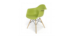 Eames Style Dining DAW Arm Chair Green - Replica